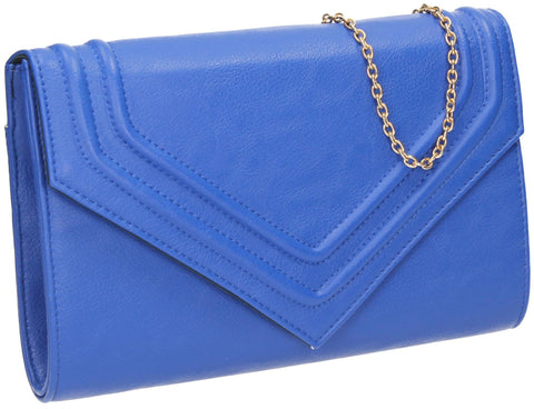 SWANKYSWANS Ashby Envelope Clutch Bag Royal Blue Cute Cheap Clutch Bag For Weddings School and Work