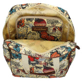 Swanky Swans Atlantis Vintage Map & Butterfly Backpack BeigeBeautiful cheap school backpack bag