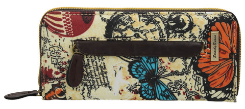 Swanky Swank Atlantis Map & Butterfly Purse BeigeCheap Cute School Wallets Purses Bags Animal