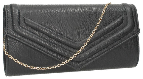 SWANKYSWANS Audrey Envelope Clutch Bag Black Cute Cheap Clutch Bag For Weddings School and Work