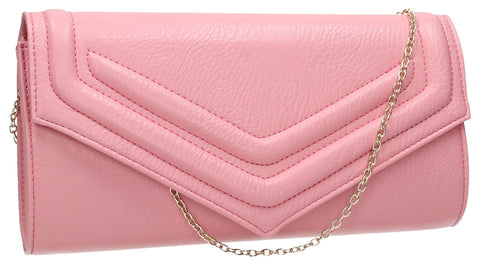 SWANKYSWANS Audrey Envelope Clutch Bag Blush Pink Cute Cheap Clutch Bag For Weddings School and Work