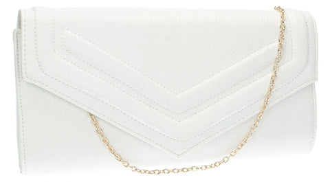 SWANKYSWANS Audrey Envelope Clutch Bag White Cute Cheap Clutch Bag For Weddings School and Work