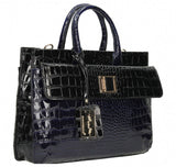 Swanky Swans Bedford Handbag Black & NavyCheap Fashion Wedding Work School
