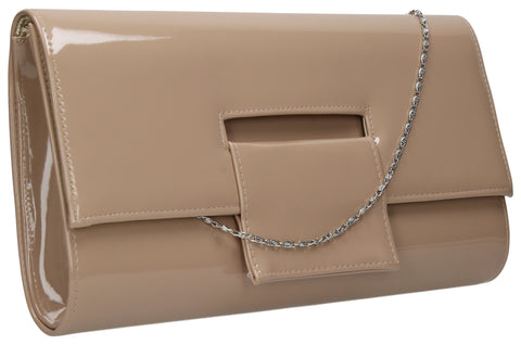 SWANKYSWANS Belinda Oversize Clutch Bag Beige Cute Cheap Clutch Bag For Weddings School and Work
