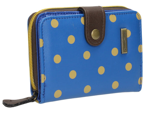 Swanky Swank Bella Small Polka Dot Purse BlueCheap Cute School Wallets Purses Bags Animal