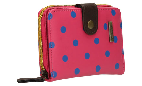 Swanky Swank Bella Small Polka Dot Purse Bright PinkCheap Cute School Wallets Purses Bags Animal