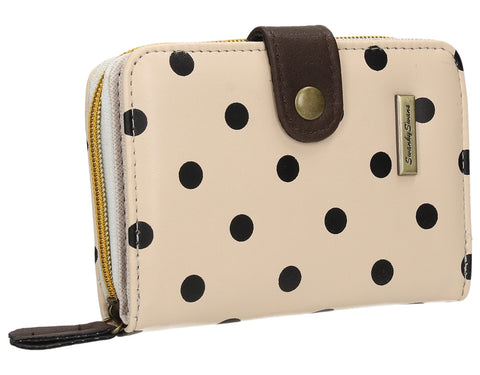 Swanky Swank Bella Small Polka Dot Purse Cream & BlackCheap Cute School Wallets Purses Bags Animal