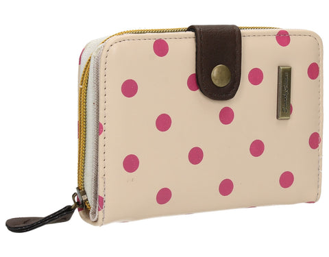 Swanky Swank Bella Small Polka Dot Purse Cream & PinkCheap Cute School Wallets Purses Bags Animal
