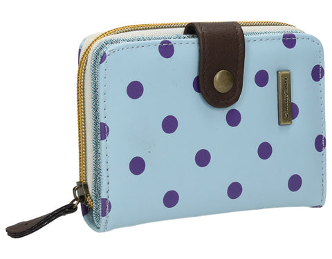 Swanky Swank Bella Small Polka Dot Purse Pastel BlueCheap Cute School Wallets Purses Bags Animal