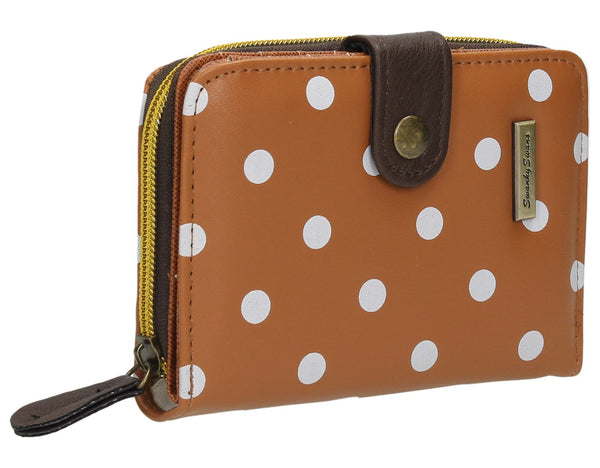Swanky Swank Bella Small Polka Dot Purse Tan BrownCheap Cute School Wallets Purses Bags Animal
