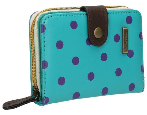 Swanky Swank Bella Small Polka Dot Purse TurquoiseCheap Cute School Wallets Purses Bags Animal