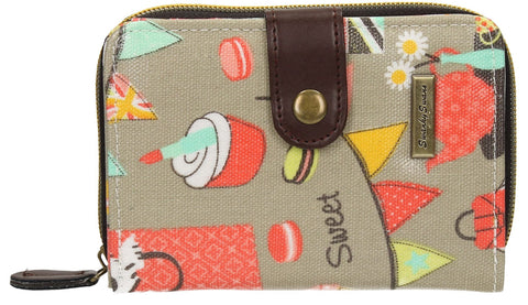 Swanky Swank Biba Dog Cupcake  Bi-fold Purse GreyCheap Cute School Wallets Purses Bags Animal