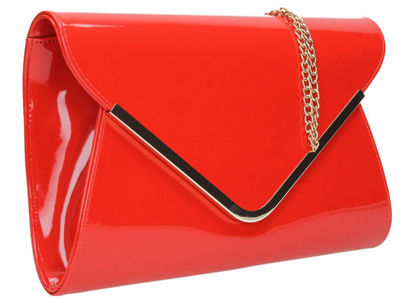 SWANKYSWANS Billie Envelope Clutch Bag Red Cute Cheap Clutch Bag For Weddings School and Work