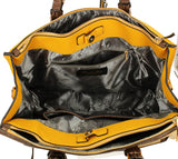 Swanky Swans Bonn Cosmo Handbag Mustard & BrownCheap Fashion Wedding Work School