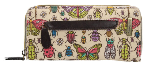 Swanky Swank Borella Butterfly & Bugs Front Zipper Detail PurseCheap Cute School Wallets Purses Bags Animal