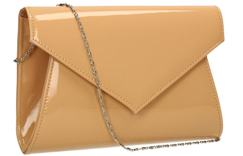 SWANKYSWANS Chrissy Envelope Clutch Bag Beige Cute Cheap Clutch Bag For Weddings School and Work