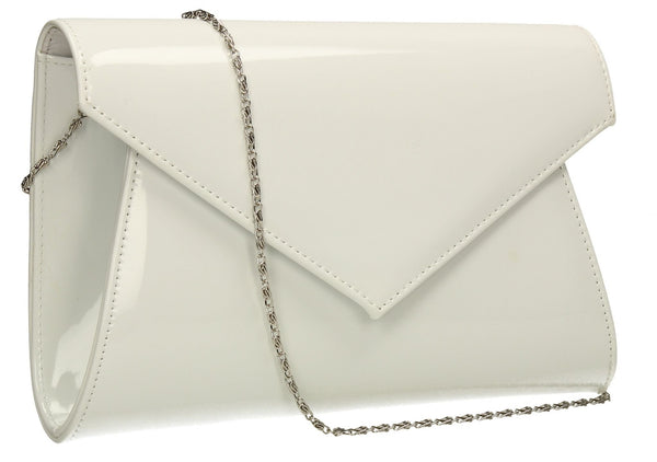 SWANKYSWANS Chrissy Envelope Clutch Bag White Cute Cheap Clutch Bag For Weddings School and Work