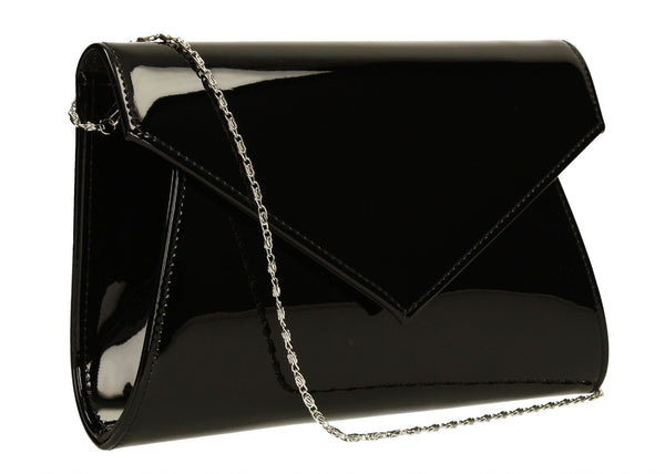SWANKYSWANS Chrissy Envelope Clutch Bag Black Cute Cheap Clutch Bag For Weddings School and Work