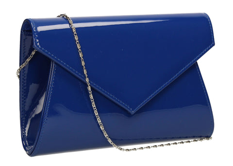 SWANKYSWANS Chrissy Envelope Clutch Bag Royal Blue Cute Cheap Clutch Bag For Weddings School and Work
