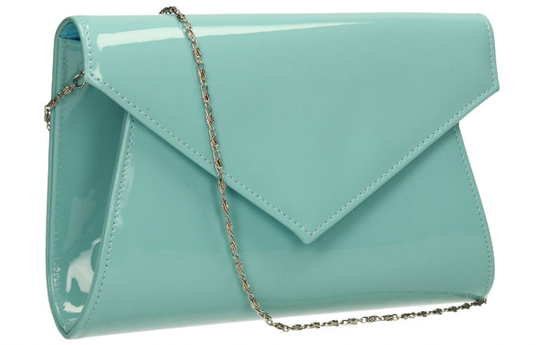 SWANKYSWANS Chrissy Envelope Clutch Bag Blue Cute Cheap Clutch Bag For Weddings School and Work