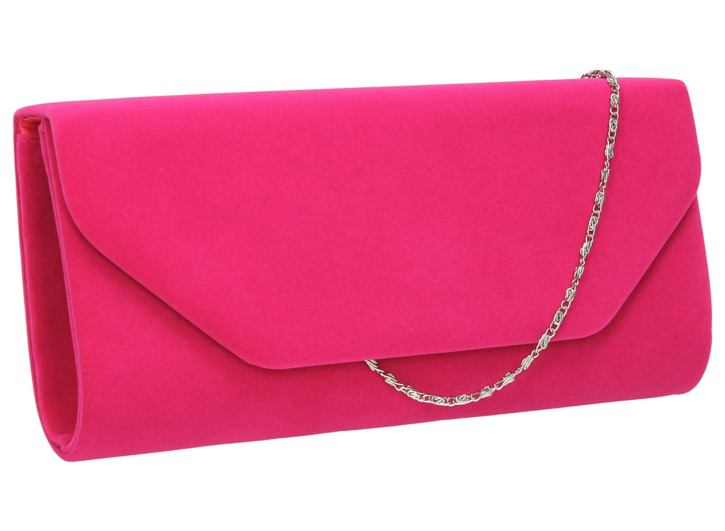 temperament shoes picked up cheaper Isabella Velvet Clutch Bag Bright Pink   Clutch Bags ...