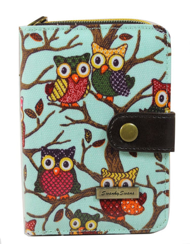 Swanky Swank Classic Owl Tree Purse BlueCheap Cute School Wallets Purses Bags Animal