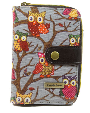 Swanky Swank Classic Owl Tree Purse GreyCheap Cute School Wallets Purses Bags Animal