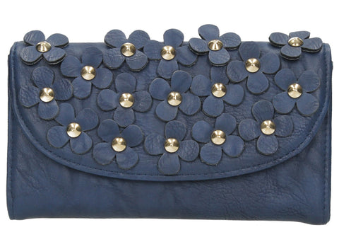 Swanky Swank Demi Daisy Motif Elegant Purse Navy BlueCheap Cute School Wallets Purses Bags Animal