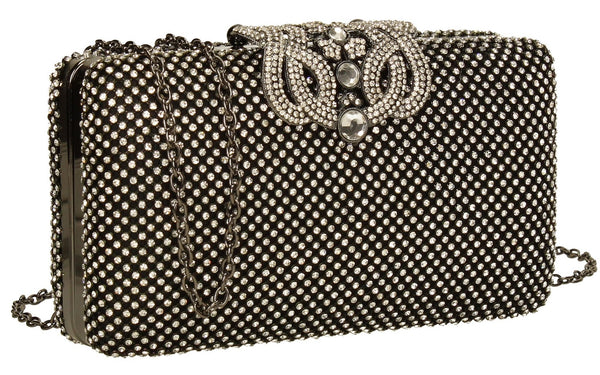 SWANKYSWANS Diana Dazzling Crystal Diamante Clutch Bag