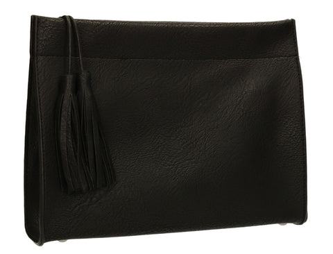 SWANKYSWANS Dina Tassel Clutch Bag Black