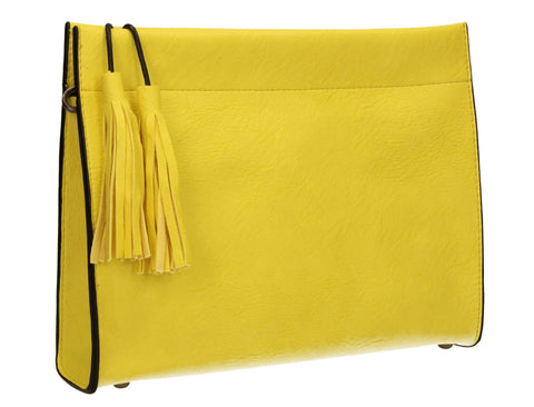 SWANKYSWANS Dina Tassel Clutch Bag Yellow