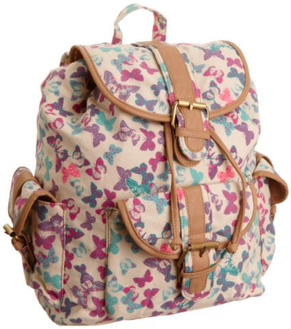 Swanky SwansLily Butterfly Print BackpackBeautiful cheap school backpack bag