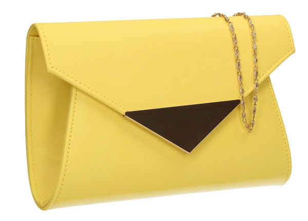 SWANKYSWANS Elaine Envelope Clutch Bag Yellow