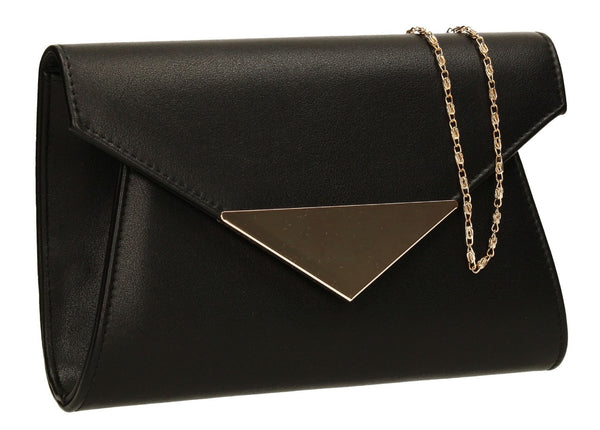 SWANKYSWANS Elaine Envelope Clutch Bag Black