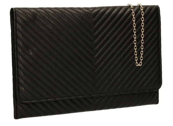 SWANKYSWANS Emmy Flapover Clutch Bag Black
