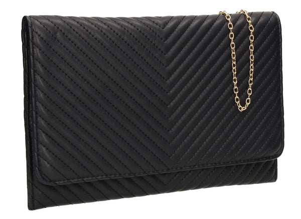 SWANKYSWANS Emmy Flapover Clutch Bag Navy