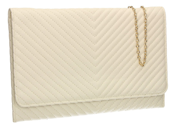 SWANKYSWANS Emmy Flapover Clutch Bag White