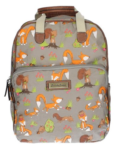 Swanky SwansFreddie Fox & Squirrel Backpack GreyBeautiful cheap school backpack bag