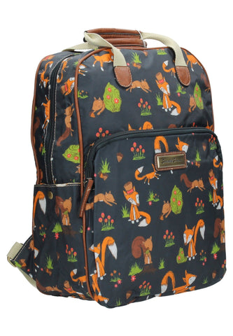 Swanky SwansFreddie Fox & Squirrel Backpack Navy BlueBeautiful cheap school backpack bag