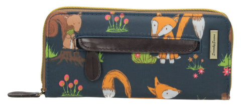 Swanky Swank Freddie Fox & Squirrel Front Zipper Detail PurseCheap Cute School Wallets Purses Bags Animal