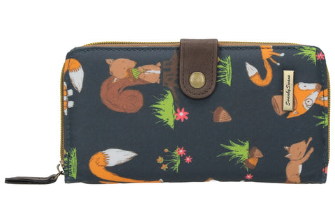 Swanky Swank Freddie Fox & Squirrel Large Bi-fold PurseCheap Cute School Wallets Purses Bags Animal