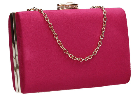 SWANKYSWANS Surrey Clutch Bag Fuschia Cute Cheap Clutch Bag For Weddings School and Work