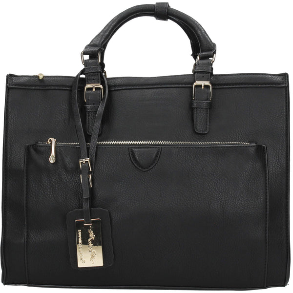 Swanky Swans Marcella Cosmo Handbag BlackPerfect for School, Weddings, Day out!