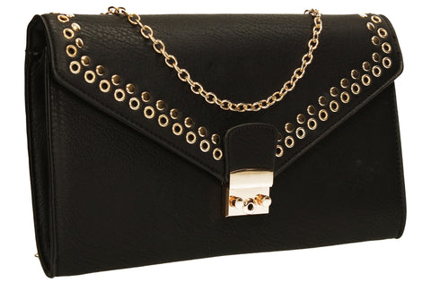 SWANKYSWANS Beni Clutch Bag Black Cute Cheap Clutch Bag For Weddings School and Work