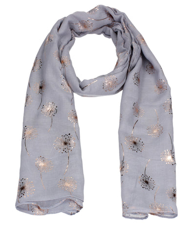 Swanky Swans Macy Rose Gold Dandelion Scarf Grey Beautiful school Summer Winter Scarf