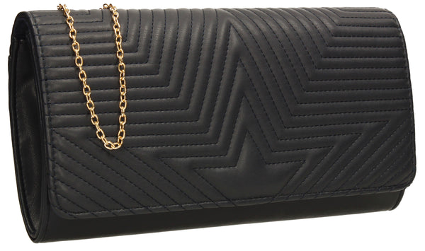 SWANKYSWANS Michelle Clutch Bag Navy Cute Cheap Clutch Bag For Weddings School and Work