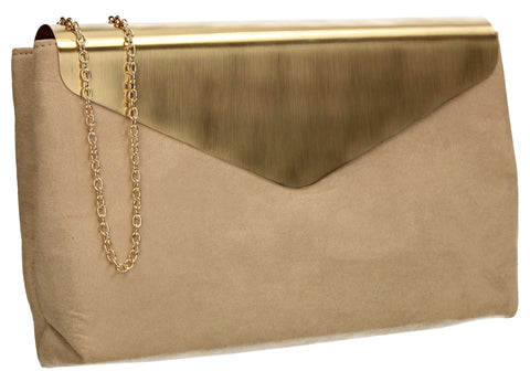 SWANKYSWANS Ariana Clutch Bag Beige Cute Cheap Clutch Bag For Weddings School and Work
