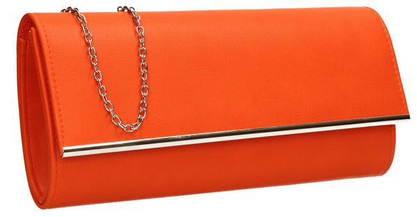 SWANKYSWANS Samantha Clutch Bag Orange Cute Cheap Clutch Bag For Weddings School and Work