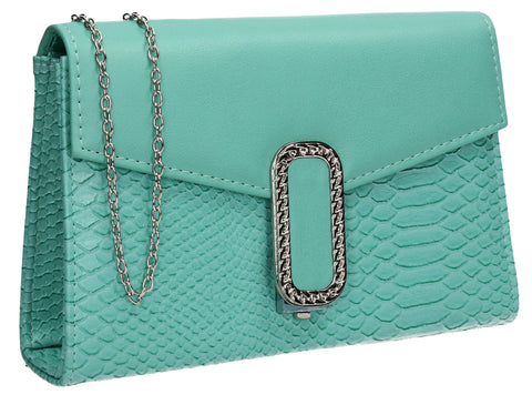 Vanessa Clutch Bag Turquoise-Clutch Bag-SWANKYSWANS