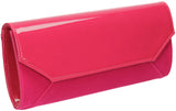SWANKYSWANS Kiera Clutch Bag Fuschia Cute Cheap Clutch Bag For Weddings School and Work
